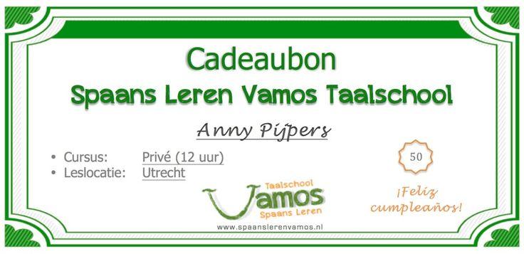 Geef iemand Spaanse les cadeau! www.spaanslerenvamos.nl