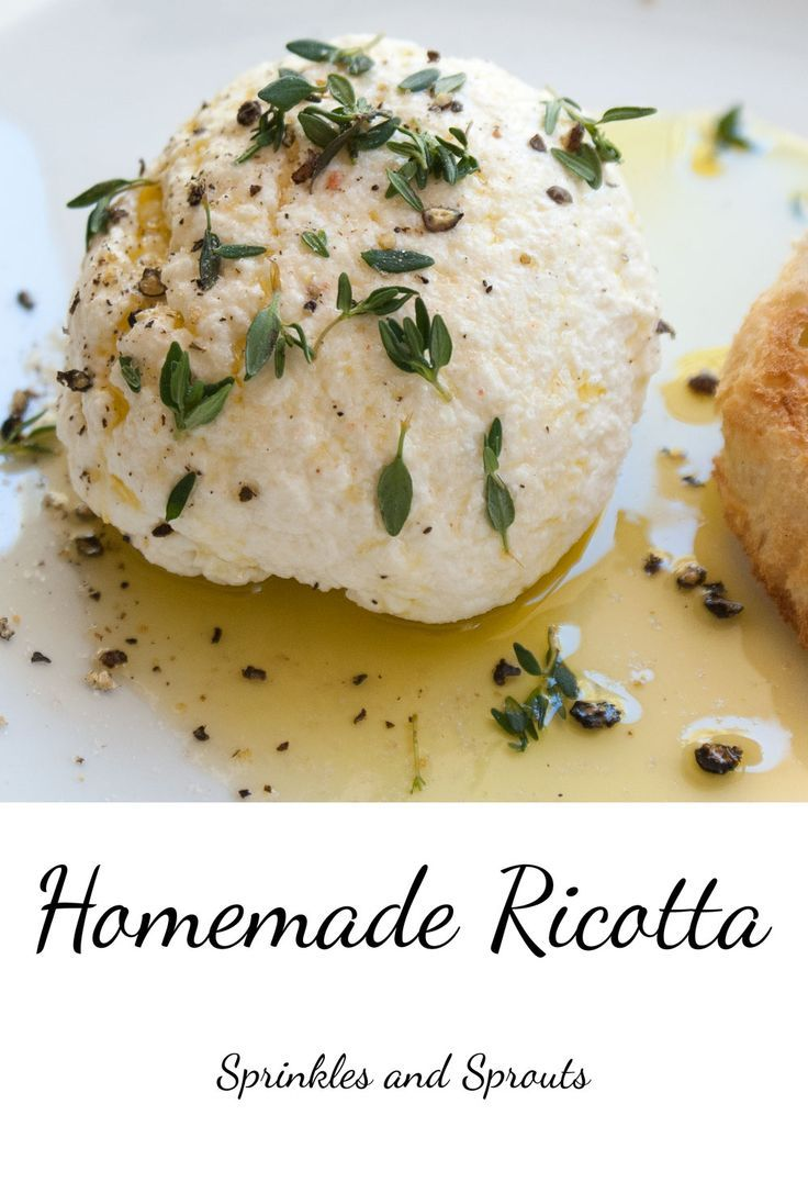 Homemade Ricotta. A rich creamy and delicious cheese that is simple to ...