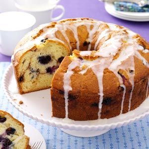 Blueberry Sour Cream Coffee Cake Recipe from Taste of Home -- shared by Susan Walschlager of Anderson, Indiana