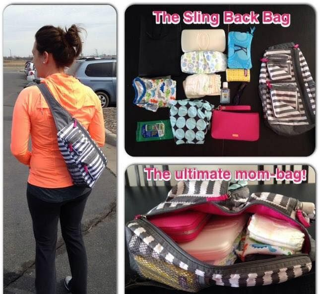 Perfect mom bag! Slingback Thirty-One Gifts #diaperbag #organized More prints at www.bonniekschulz.com