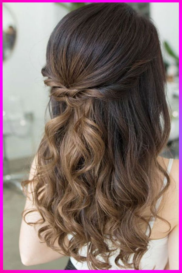 Lovely Long Half Up Half Down Hairstyles for Christmas ...