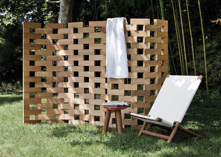 Moderner Paravent / Holz / Garten ZEN by Ludovica & Roberto Palomba EXTETA