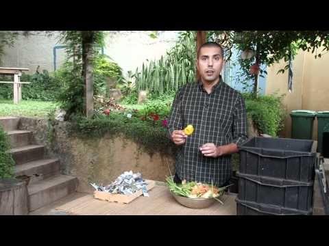 Monte uma composteira limpa, prática e sem mau cheiro para produzir seu próprio composto orgânico e adubar as plantas do jardim.