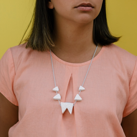 tooth necklace by Georgie Cummings