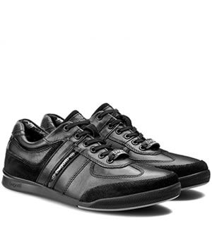 Pantofi Sport Bugatti Negri Piele