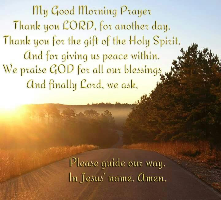 My good morning prayer