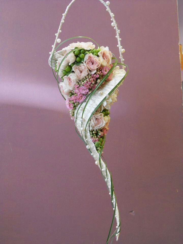 Very unique bridal bouquet.