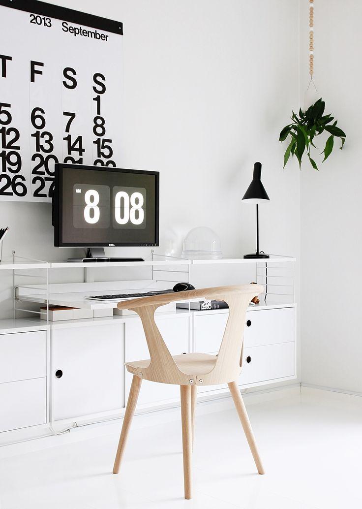 Via Nordic Leaves   Black and White   AJ Desk Lamp   Stendig
