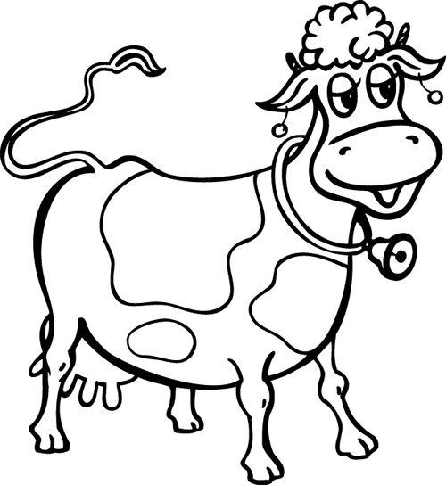Les 25 meilleures id es de la cat gorie coloriage vache - Vache dessin facile ...