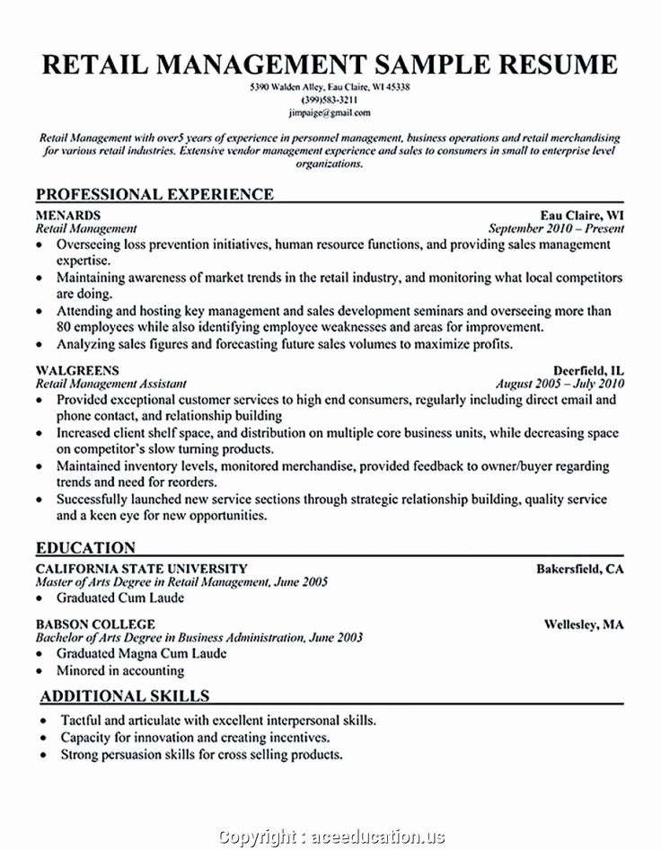 Retail Store Manager Resume Luxury Creative Clothing Store