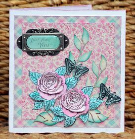 Gorgeous feminine card with step-by-step tutorial made by Denise van Deventer with ScrapBerry's products. Check out our blog for the tutorial.
