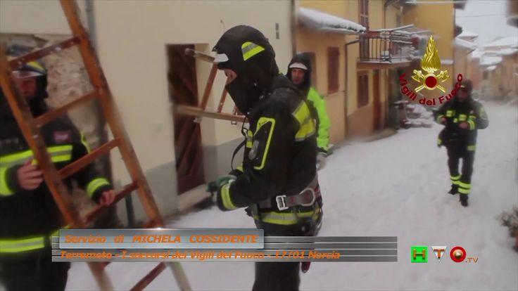 Sisma centro Italia - I soccorsi dei Vigili del Fuoco - 17/01 Norcia - w...