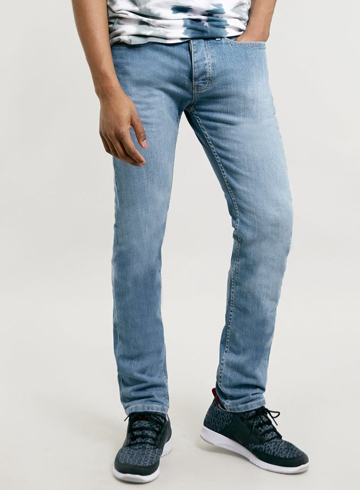 Light Powder Blue Skinny Jeans Men