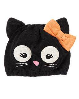 Halloween Kitty Sweater Hat