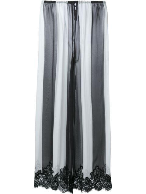 Rosamosario полосатые брюки с кружевной отделкой