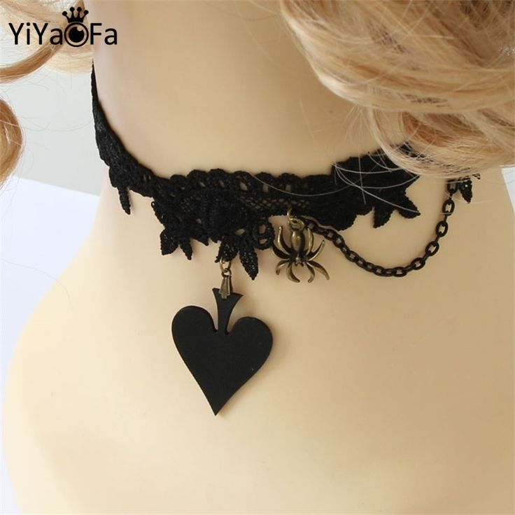 YiYaoFa Poker Queen Lace Vintage Necklace & Pendant False Collar Women Accessories Gothic Jewelry Statement Necklace JL 76-in Pendant Necklaces from Jewelry & Accessories on Aliexpress.com | Alibaba Group