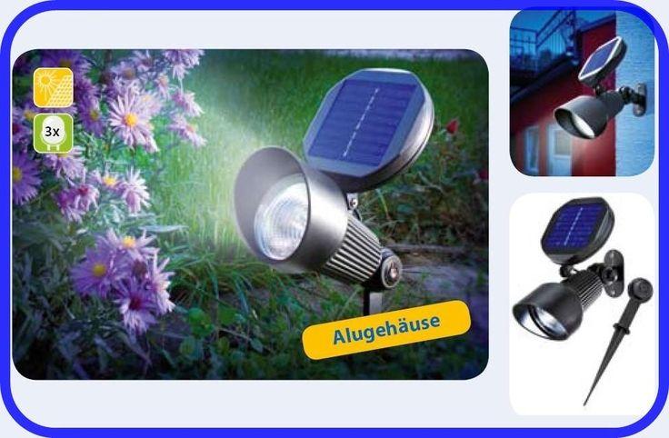 LED Solar Leuchte Gartenstrahler Solarspot Solarlampe Teichbeleuchtung  102138