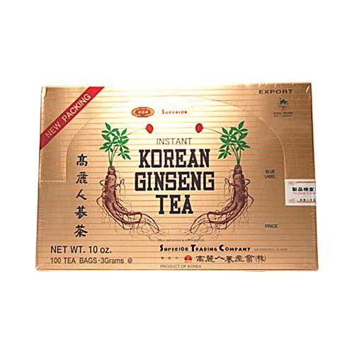 Superior Instant Korean Ginseng Tea - 100 Tea Bags