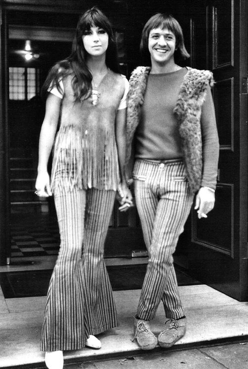 Sonny and Cher on honeymoon in Britain, August 1965