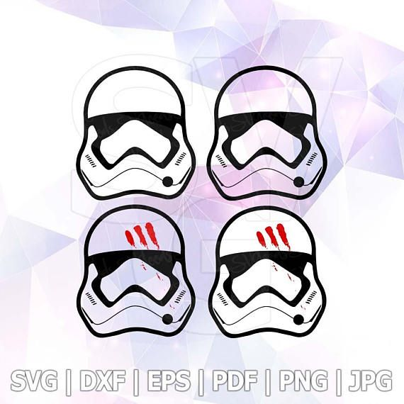 Star Wars Stormtrooper SVG DXF Layered File for Cricut