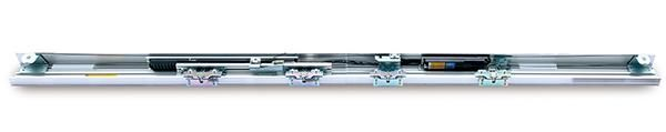 Magnetic linear drive automatic sliding door