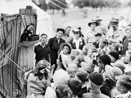 Punch and Judy shows were very entertaining for all ages during the 1940's and 50's. v@e
