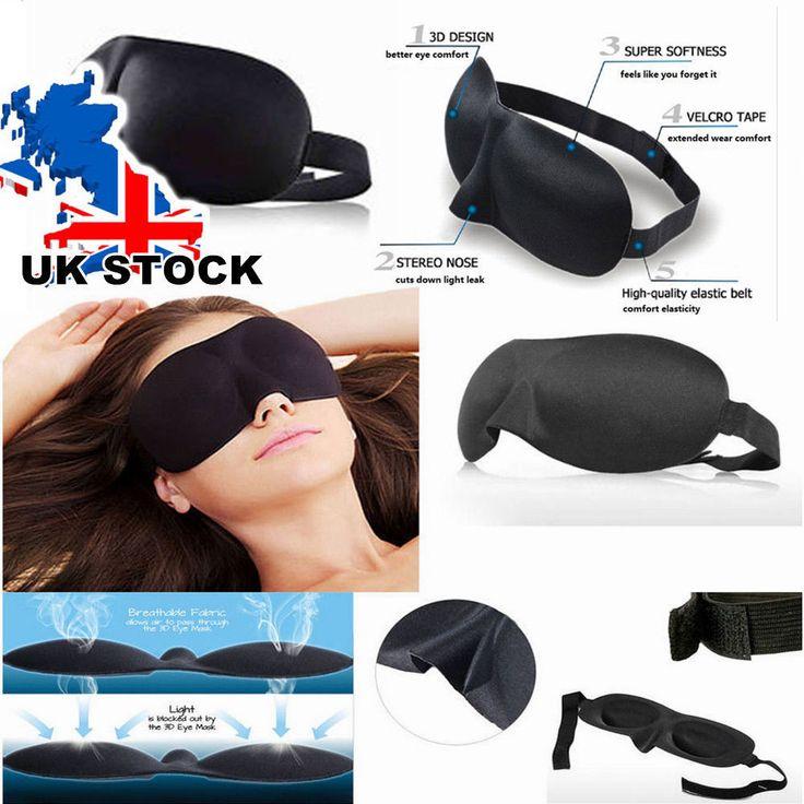 Blackout Eye Mask 3D Soft Rest Travel Plane Air Sleep Blindfold Aid Shade