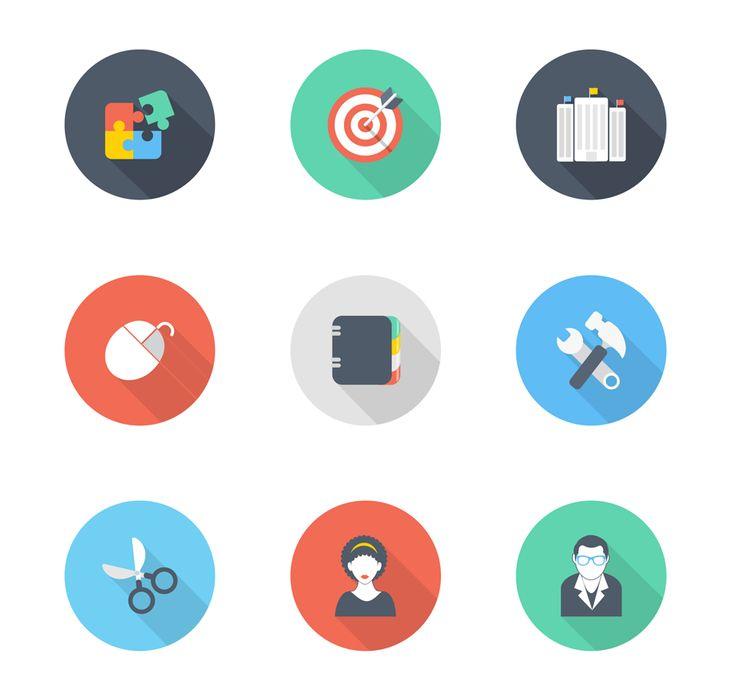 35 iconos planos de negocios