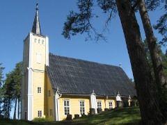 Muhoksen kirkko vuodelta 1634
