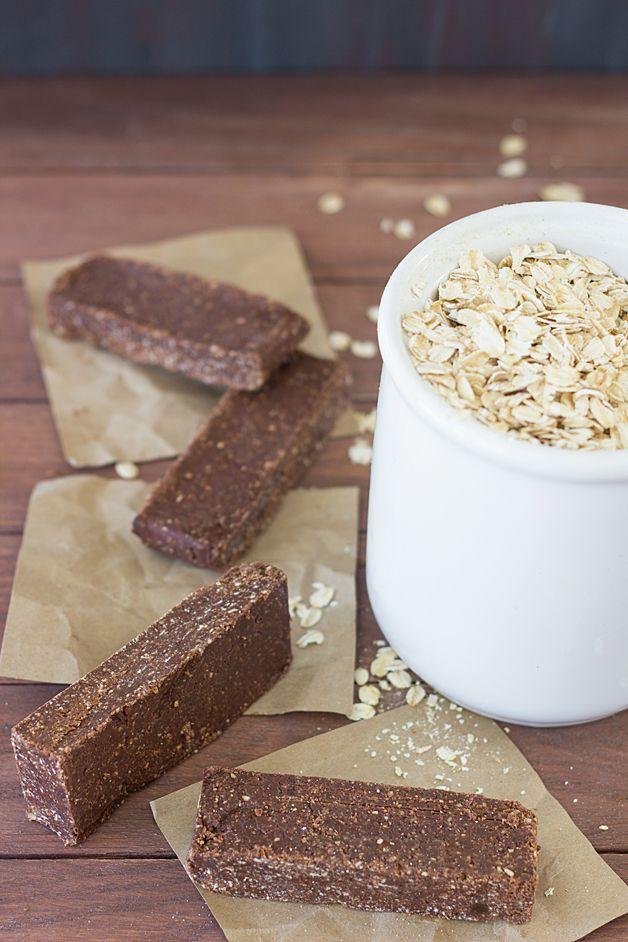 Healthy Dark Chocolate No-Bake Bars | brighteyedbaker.com