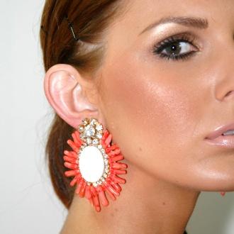earrings and makeup