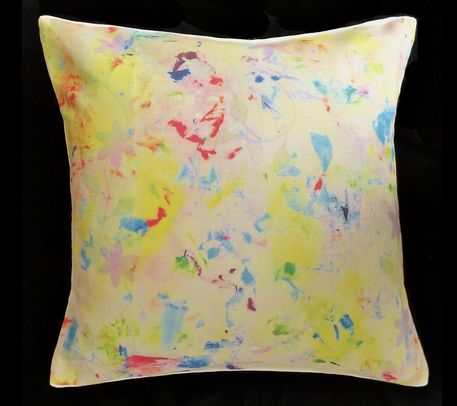 Cushion cover by PaabsPrints - spot the flowers