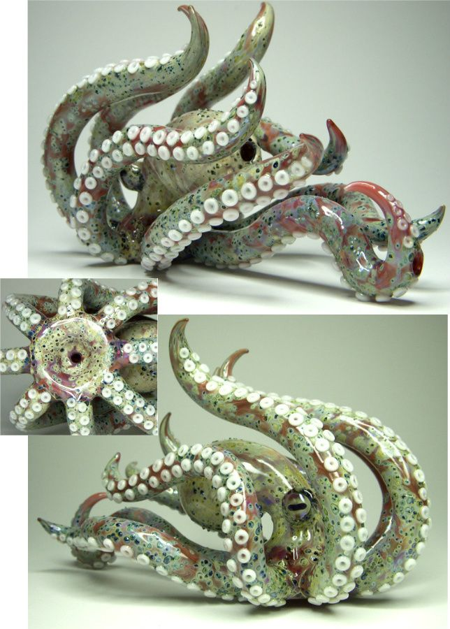★Amazing! Hand-Blown glass Octopus Pipe! I want it! Don't care that its a pipe but this is amazing