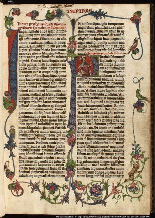 Gutenberg Bible - the British Library owns two. Mystery of History Volume 2, Lesson 84 #MOHII84