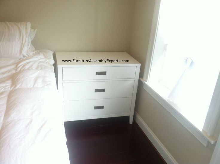 Crate Barrel Arch Charcoal Three Drawer Chest Assembled In Mclean VA By Furniture  Assembly Experts