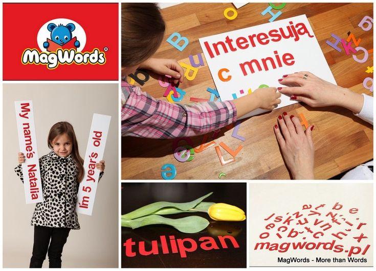 Literki Magnetyczne dla Dzieci - 45 szt - ALFABETY w MagWords® - More than Words na DaWanda.com