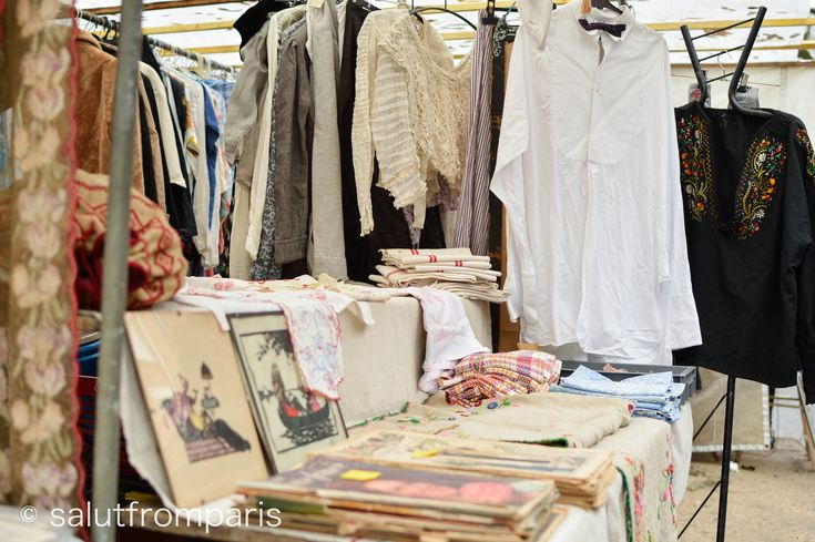 "Visiting a flea market in Paris is one of the authentic highlights for many visitors but only few know about the ""Marché aux Puces"" at Porte de Vanves. The Vanves flea market in the south of Paris stands out with it's laid back flair and is a great starting point for exploring an off the beaten path Paris."