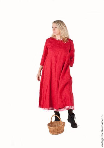 Платья ручной работы. Заказать Комплект красных платьев art.68c во французском стиле. MUHA. Ярмарка Мастеров. Платье