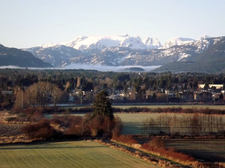 Overlooking Courtenay and Comox Glacier from east Courtenay