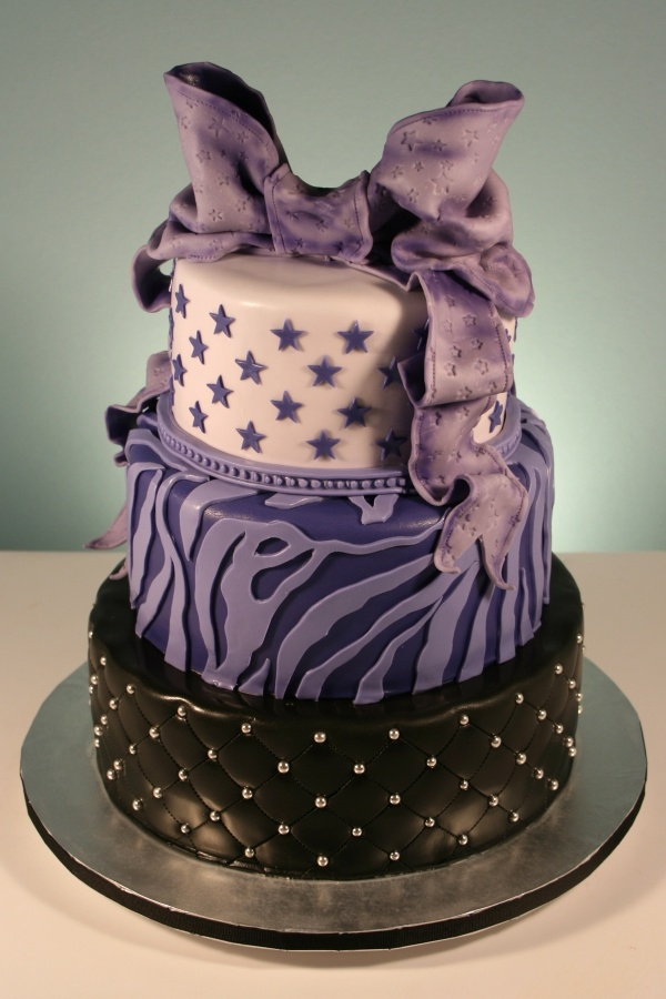 Purple Zebra Cake Design : 17 Best images about My bday on Pinterest Fondant ...