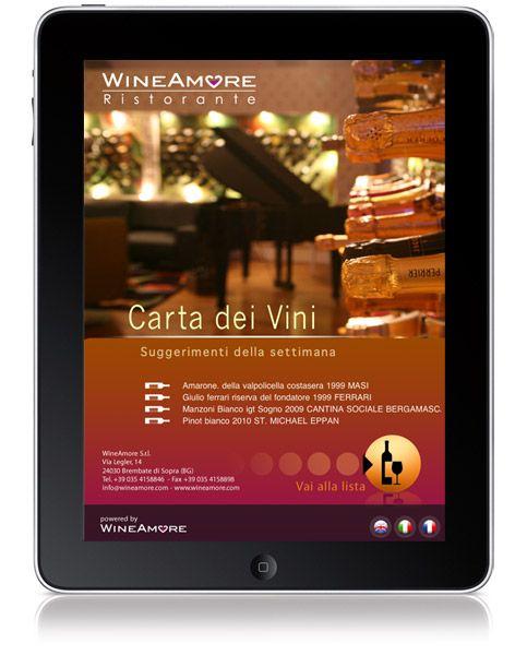 WineAmore, l'applicazione per la carta dei vini del futuro