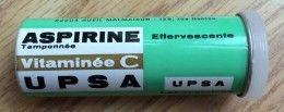 Tube d'aspirine UPSA (en métal)