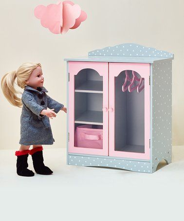 Loving this Gray Fancy Closet Set for 18'' Doll on #zulily! #zulilyfinds
