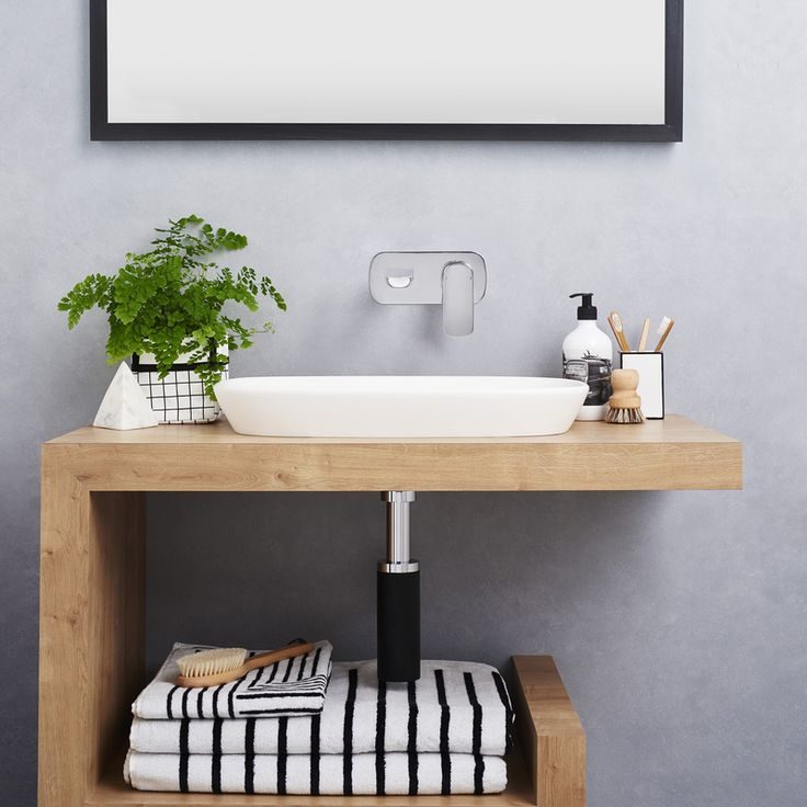 #Caroma Contura Wall Basin Mixer - In love! http://www.caroma.com.au/bathrooms/mixer-taps/contura/contura-wall-basin-bath-mixer