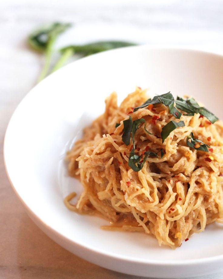 11. Spaghetti Squash With Vegan Tomato Cream Sauce #comfortfood #squash #spaghettisquash #vegetarian #vegetarianrecipes http://greatist.com/eat/spaghetti-squash-recipes