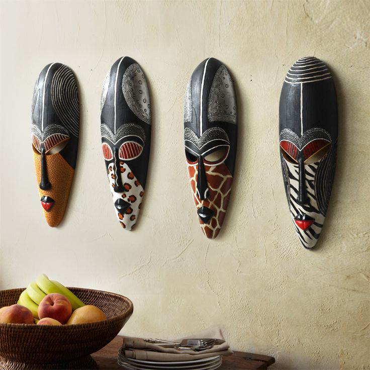 Hot Retro Resin Exotic African Masks Portraits Hanging Wall Mural Wall Hanging Ornaments Home Accessories, Best Gift