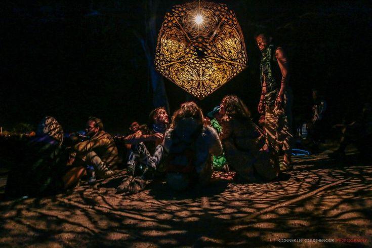 Art installations at Oregon Eclipse 2017 Transformational Festival