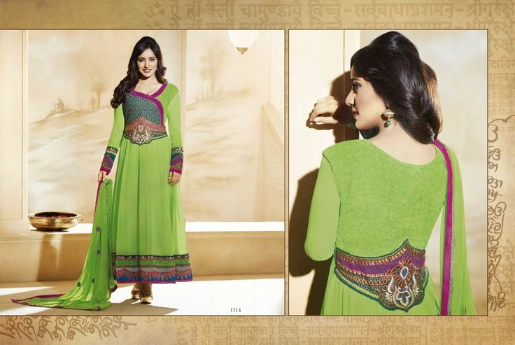 Bollywood Starer Gorgeous Green Anarkali