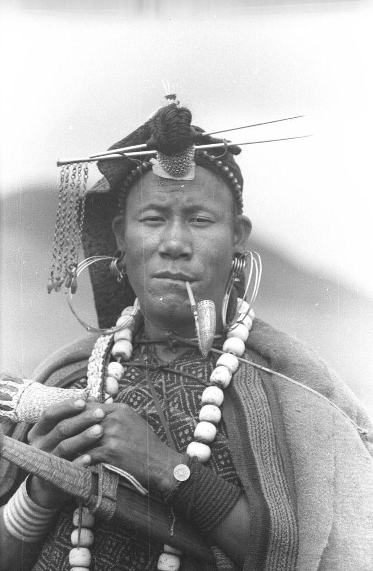 .Apatani shaman during a ritual procession by SOAS Digital