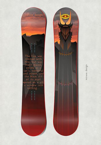 #mirasa #design #snowboard #darkness #eye #sauron #lordoftherings #Isengard #Sauron